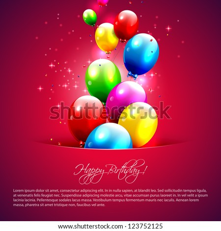 Colorful balloons flying out of pocket - stock vector