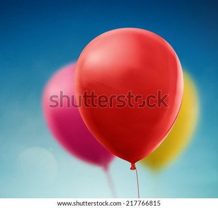 Colorful balloons on sky background, eps 10 - stock vector