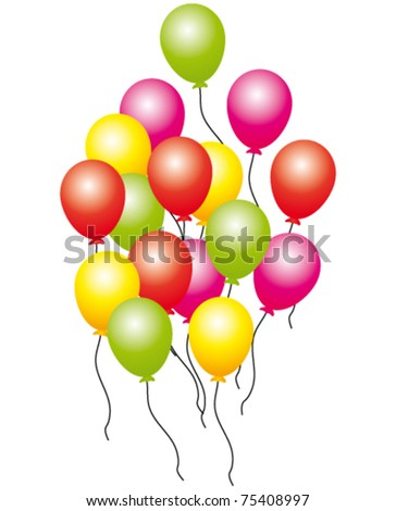 Colorful balloons. Vector and isolated.