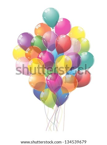 Colorful Balloons.Vector illustration. - stock vector