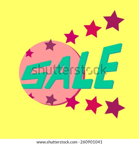 Colorful banner for discounts and advertising sales. Sale in vector