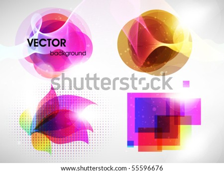 Colorful banner set - stock vector