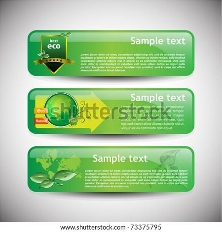 Colorful banner set vector illustration - stock vector