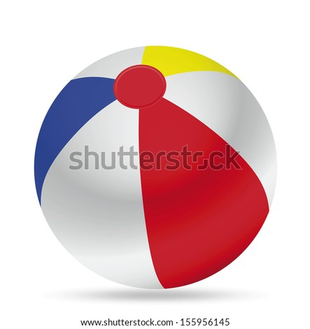 Colorful beach ball - Illustration
