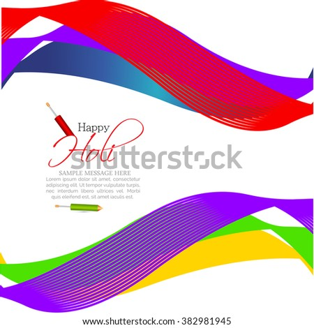 Colorful Beautiful vector illustration or flyer design for indian festival Holi