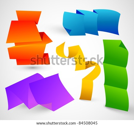 Colorful Bended Papers