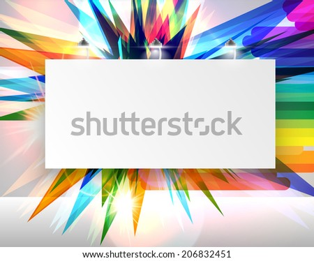 Colorful billboard for advertising, vector - stock vector
