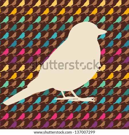 Colorful birds seamless pattern. - stock vector
