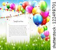 Colorful birthday background with place for text - stock photo