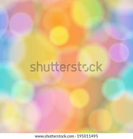 Colorful Bokeh Abstract Background. Vector illustration. - stock vector