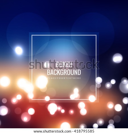 Colorful bokeh background - stock vector