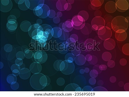 Colorful bokeh background. Vector illustration - stock vector