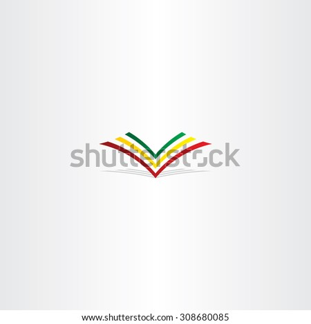 colorful book logo sign vector element bookstore - stock vector