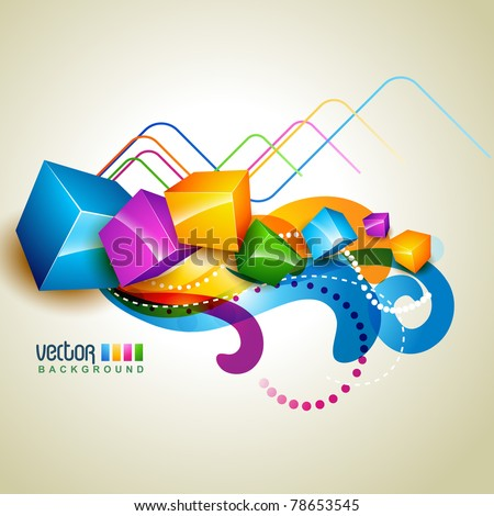 colorful box eps10 vector artwork - stock vector