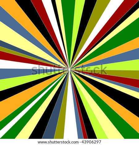 colorful bright abstract sunburst - stock vector