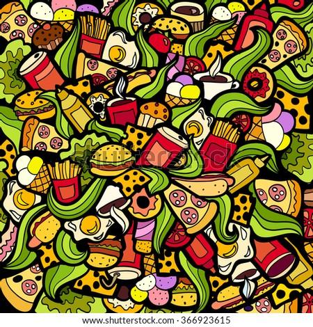fast food doodle stock images royaltyfree images
