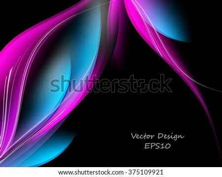 colorful bright vector background with copy space. Eps10 - stock vector