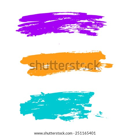 Colorful brush set vector