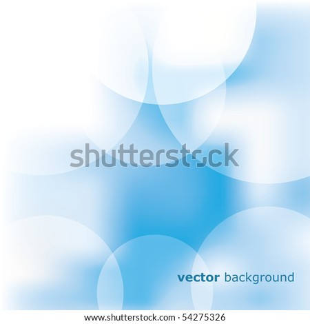 Colorful bubble vector background with text