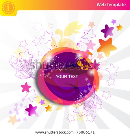 Colorful bubbles and stars - stock vector