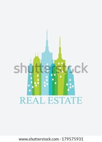 Colorful buildings design - stock vector