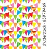 Colorful bunting seamless vector pattern. (Can be dragged to swatches palette in Adobe Illustrator for seamless pattern fills.) - stock vector