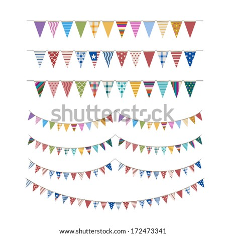 Colorful buntings, eps10 vector - stock vector