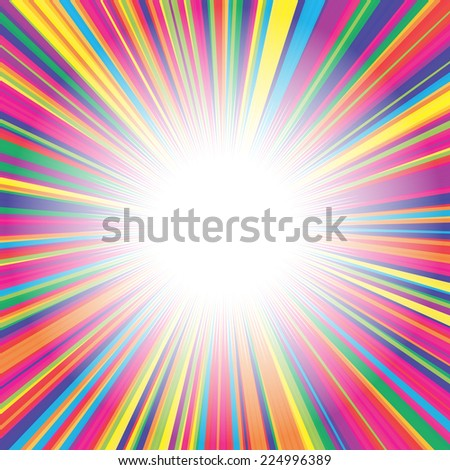 Colorful burst background - stock vector