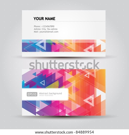 Colorful Business Cards - stock vector