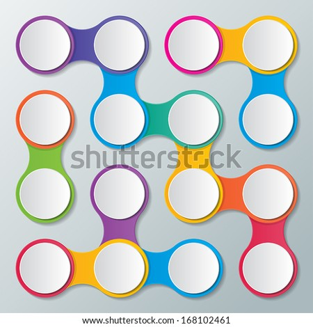 colorful business concept infographic circles background. vector.
