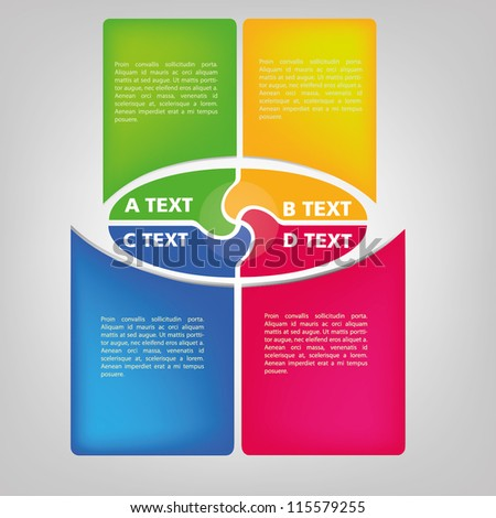 Colorful business diagram template