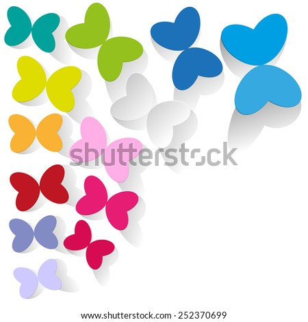 colorful butterflies on a white background - stock vector