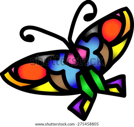 Colorful butterfly vector.