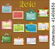 Colorful Calendar for 2010 - stock photo
