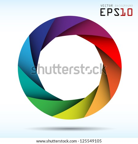Colorful camera shutter background,Illustration eps10 - stock vector