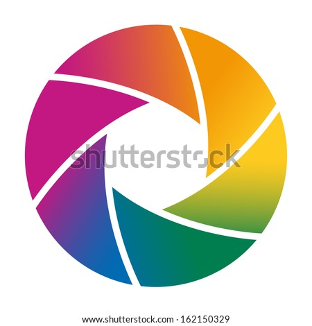 Colorful camera shutter. Vector illustration - stock vector