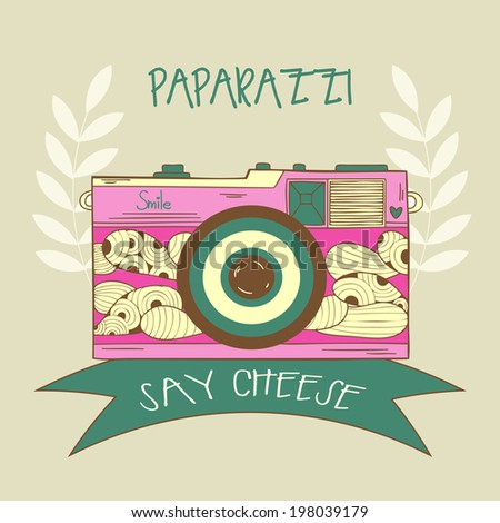 Colorful Card With Cute Retro Cameras Used For Wallpaper Pattern Fills Web Page