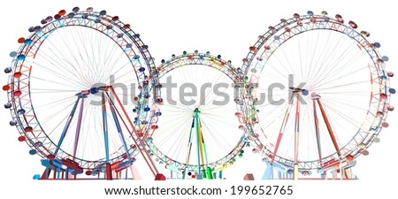 Colorful Carousel Field Vector 30 - stock vector