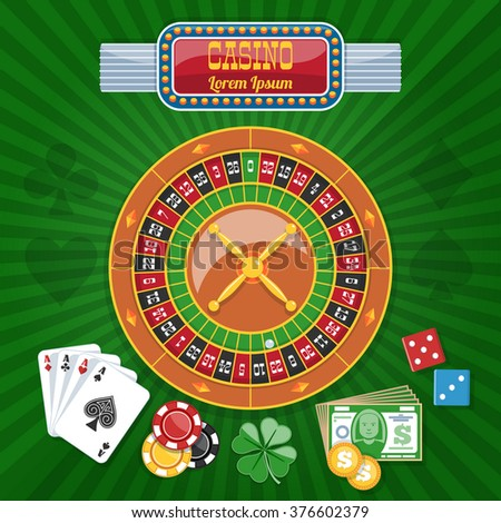 Colorful Casino Poster - Vector Illustration