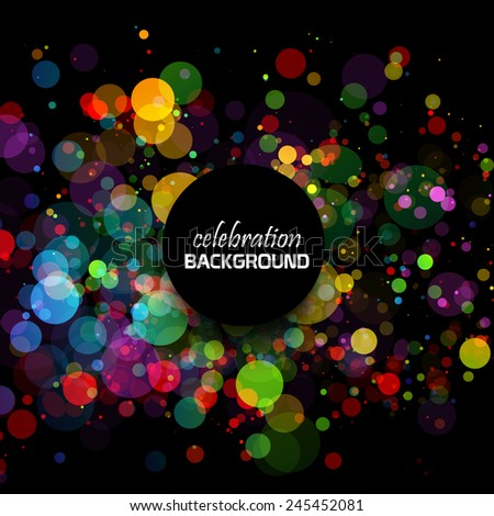 Colorful celebration background - stock vector