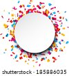 Colorful celebration background with confetti. Vector Illustration. - stock
