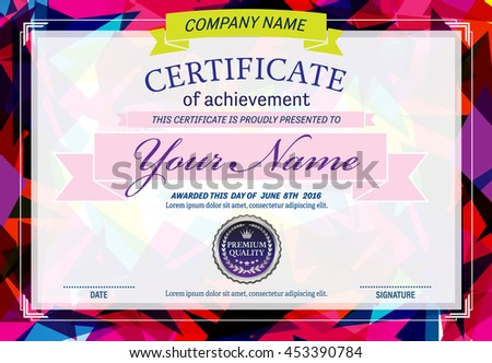 Colorful certificate diploma template vector illustration stock colorful certificate diploma template vector illustration yadclub Choice Image