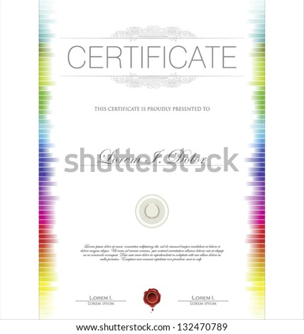 Colorful Certificate template - stock vector