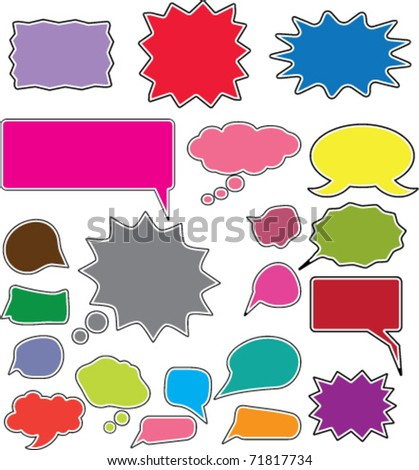 colorful chat signs
