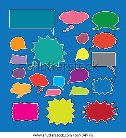 colorful chat. vector