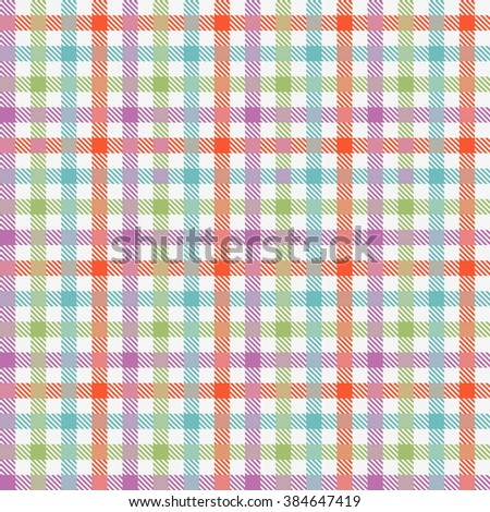 Colorful checkered tablecloths seamless pattern. Vector illustration  - stock vector