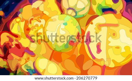 Colorful Chinese Lanterns, vector eps8 illustration - stock vector