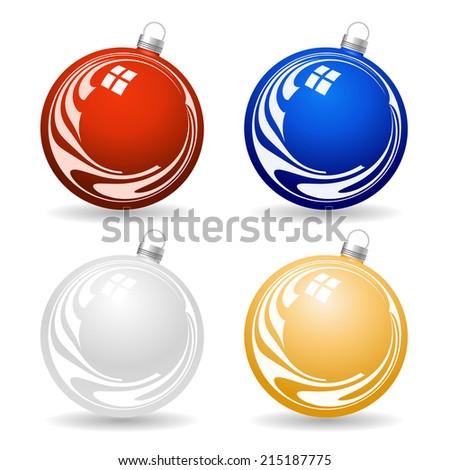 Colorful Christmas balls - stock vector