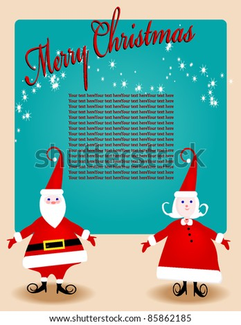 Colorful Christmas Invite, flyer, layout, letter - stock vector