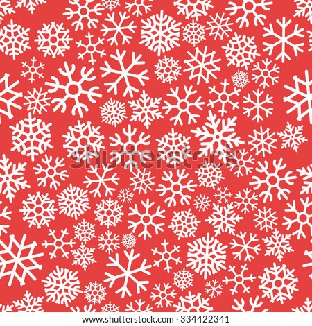 Colorful Christmas Seamless Pattern with Snowflakes Vector illustration - stock vector
